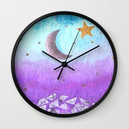 Mister moon Wall Clock