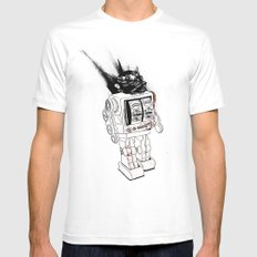 robot army Mens Fitted Tee White MEDIUM