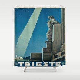 Vintage poster -Trieste Shower Curtain