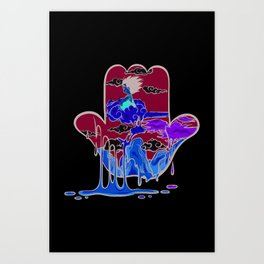 DBZ Hamza Art Print