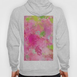 Pink neon green abstract look Hoody