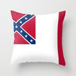Bloodstained Banner Of The Confederacy Throw Pillow