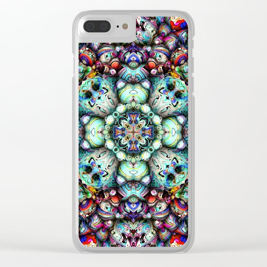 Textural Surfaces of Symmetry Clear iPhone Case