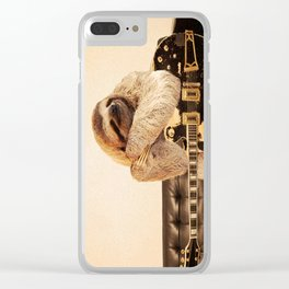 Rockstar Sloth Clear iPhone Case