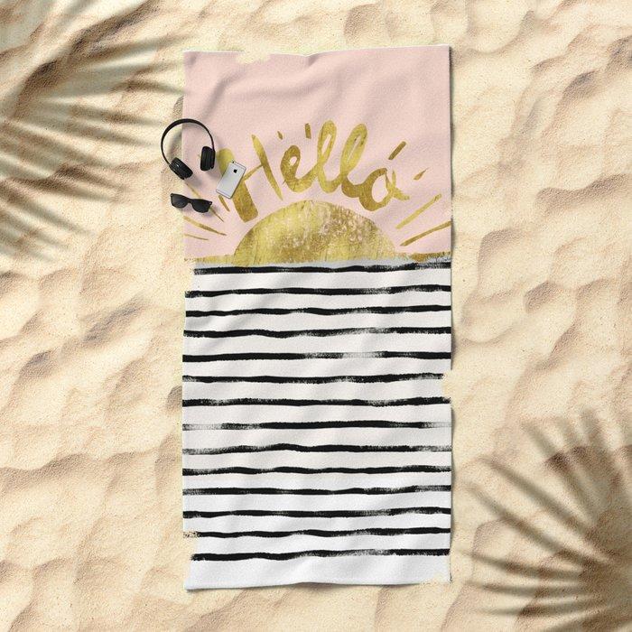 Hello Sunshine Beach Towel