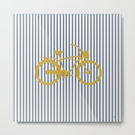 Golden Bike (Preppy Collection) Metal Print