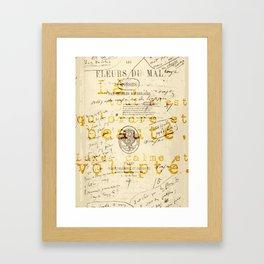 les fleurs du mal l'invitation au voyage Framed Art Print