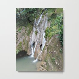 Burmese Refugee Camp Waterfall Metal Print