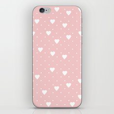 Pin Point Hearts Blush iPhone Skin
