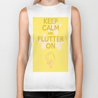 mlp Biker Tanks featuring Keep Calm and Flutter On (MLP FIM) by Michael Golding