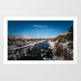 Chama River in Snow Art Print