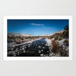 Chama River in Snow Art Print