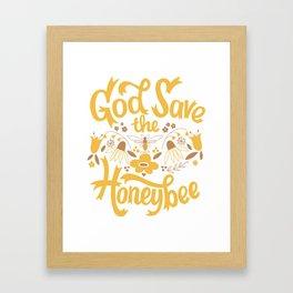 God Save the Honeybee Framed Art Print