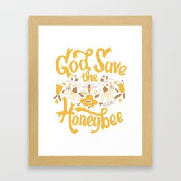 God Save the Honeybee Framed Art Print