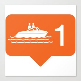 1 like boating! Canvas Print