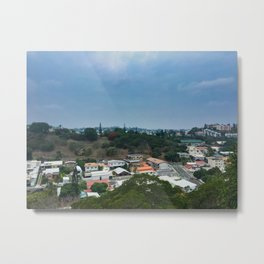 Noumea Houses From A Lookout Metal Print