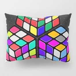 L333 // Rubik's Cube Isometric Illustration Pillow Sham