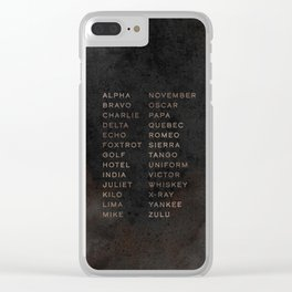 Phonetic Grunge Clear iPhone Case