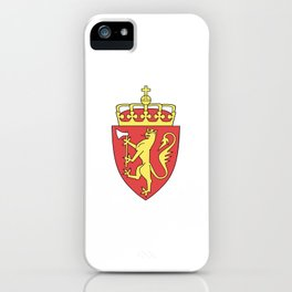 flag of Norway 7 -coast of arms iPhone Case
