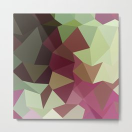 Claret Red Abstract Low Polygon Background Metal Print