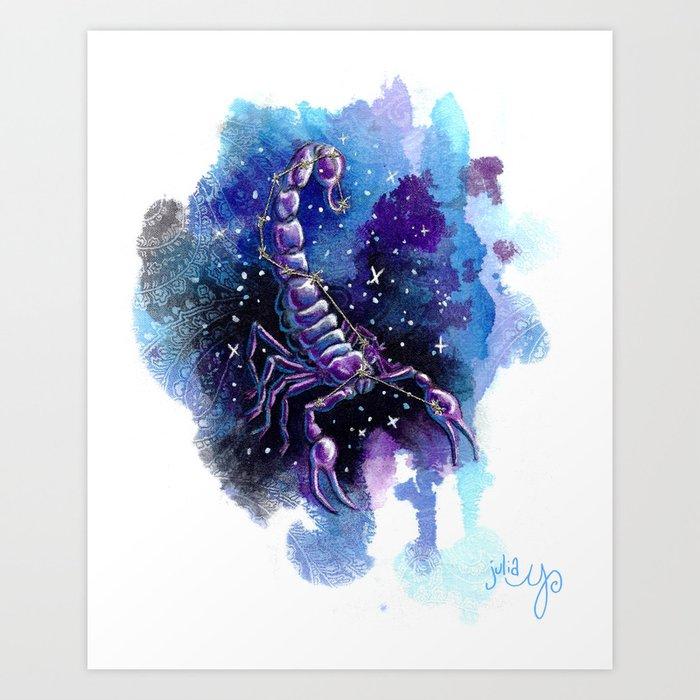 Scorpio- Zodiac Art Print