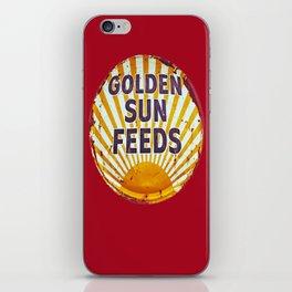 Golden Sun Feeds iPhone Skin