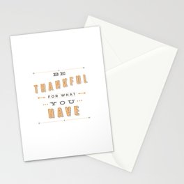 Be Thankful Stationery Cards