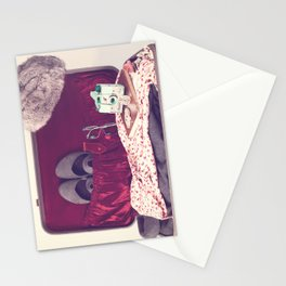 Vintage Journey Suitcase (Hers) (Retro and Vintage Still Life Photography)  Stationery Cards
