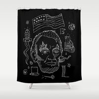 lincoln Shower Curtains featuring Abraham Lincoln by Maioriz Home