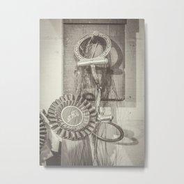 Snaffle Bit // Prize Ribbon Metal Print