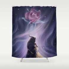 Beauty and the Beas Shower Curtain