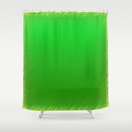 Bright Green Stitch Shower Curtain