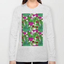 Vintage Pepper + Flower Garden Long Sleeve T-shirt