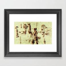 Illustration Mashup Framed Art Print
