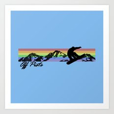 Off Piste Snowboard Art Print