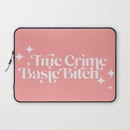 True Crime Basic Bitch - Pink Laptop Sleeve
