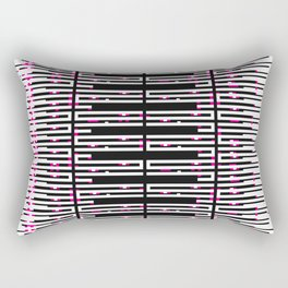 Licorice Bytes, No.12 in Black and Pink Rectangular Pillow