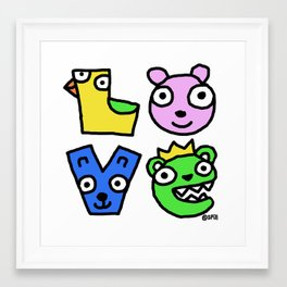Love Creatures Framed Art Print