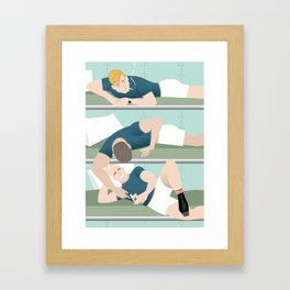 Bunk Buddies for Handsome Devil Press Framed Art Print