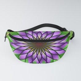 Lavender lotus mandala Fanny Pack