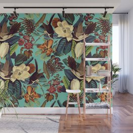 FLORAL AND BIRDS XXI Wall Mural
