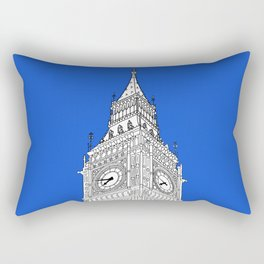 London Big Ben - Line Art Rectangular Pillow