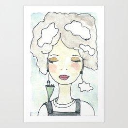 Pensieri e nuvole Art Print
