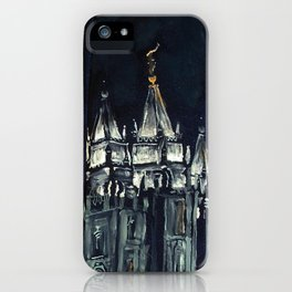 Salt Lake City Temple Tie iPhone Case