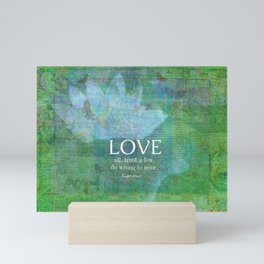 Shakespeare love quote Mini Art Print