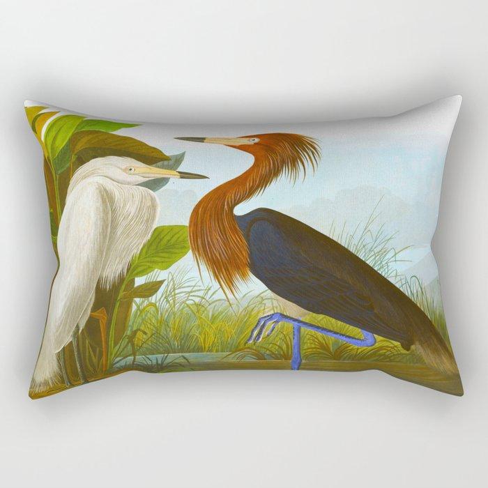 Purple Heron Rectangular Pillow