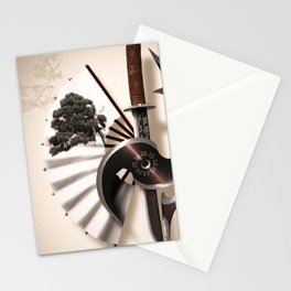 Martial Arts Weapon Stationery Cards