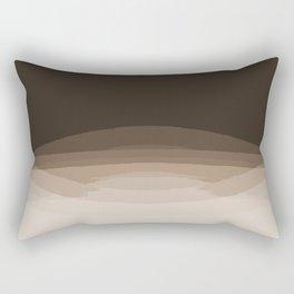 Espresso Brown Ombre Rectangular Pillow
