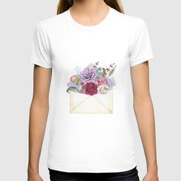 A letter filled with love. T-shirt