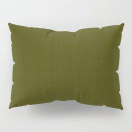 Dark olive textured striped. Pillow Sham